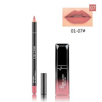 Hometom Long Lasting Lipstick Waterproof Matte Liquid Gloss Lip Liner Cosmetics Set New (G)