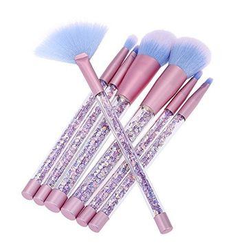 Anself 7pcs/set Makeup Brushes Mermaid Handle Foundation Power Eyebrow Make Up Sticks