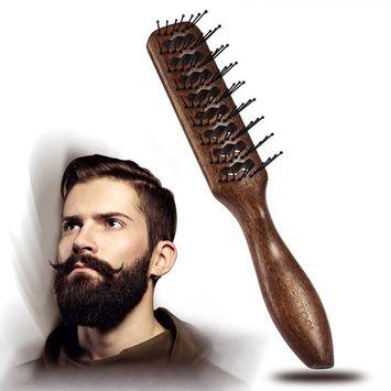 BESTOOL Hair Brush Round Nylon Bristles Teeth Wooden Large Tunnel Vent Dryer Brush Anti Static Hair Brush for Men and Women