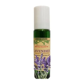 Lavender Essential Oil Roll On. Ready to Use - Prediluted with Fractionated Coconut Oil in a 11 ML Green Glass Roller Bottle