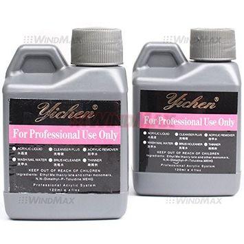 Ships From CA, USA , 2PCS Acrylic Liquid Monomer Nail Art System For Acrylic Powder Dust Nails Tips Art 120ml 4 fl oz