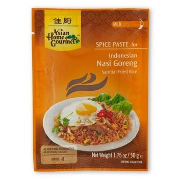 ASIAN HOME GOURMET Mild Spice Paste for Indonesian Sambal Stir Fried Rice 1.75 Ounce