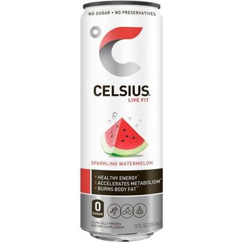 Celsius, Sparkling Watermelon, 12 - 12 Fluid Ounce Cans