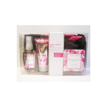 Pure Passion Pomegranate Bath & Body Gift Set with Bag, 4 Pieces