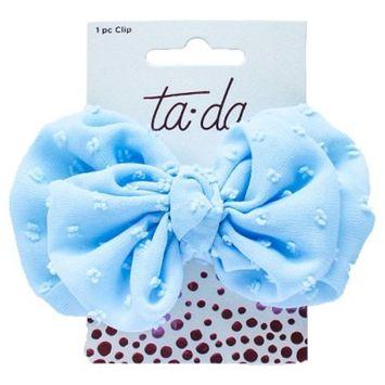 Ta-da™ Girls' Large Bow Clip Soft Blue 1 ct