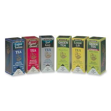 Bigelow 15577 Assorted Tea Packs, Six Flavors, 28/Box, 168/Carton