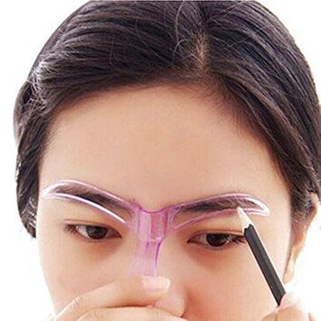 Kemilove Professional Makeup Grooming Drawing Blacken Eyebrow Template, Random Color