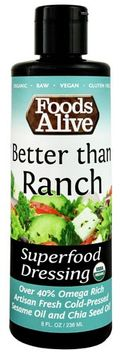 Foods Alive Organic Superfood Dressing Better than Ranch - 8 fl oz pack of 6