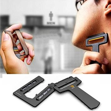CARZOR Ultraportable Card Shaver Pocket Razor Safety Razor with Mirror & Blades