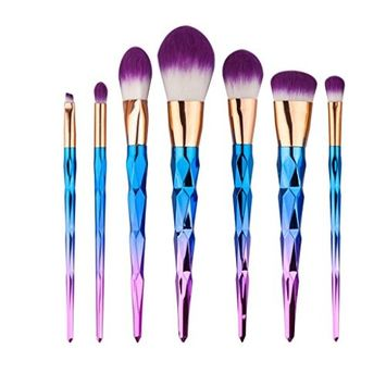 Start 7pcs/Sets Multicolor Makeup Brush Set for Eye Shadow Foundation Eyebrow Lip