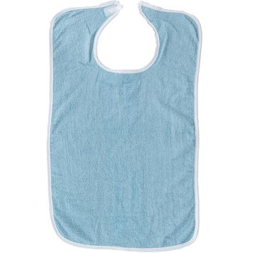 Pack of 3 Terry Adult Bib with Velcro Closure - 3 Pack