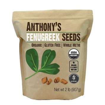Organic Fenugreek Seeds (2lb) by Anthony's, Whole Methi Seeds, Non-GMO & Verified Gluten Free