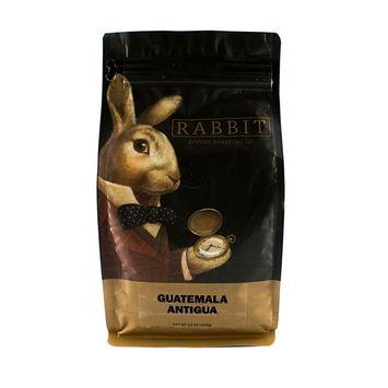 Guatemala Antigua Whole Bean Gourmet Coffee - 100% Arabica - Medium Roast - Rabbit Coffee Roasting Co. - 12 Ounce Bag