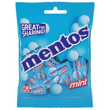 Mentos Chewy Mint Candy, Individually Wrapped 40 Piece Bulk Peg Bag