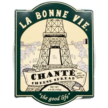 LA BONNE VIE, Imported French Garlic and Herb Fresh Cheese Spread, 4.4 oz