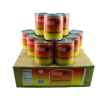 Yoders Canned Hamburger Ground Beef Case 12 Cans [Hamburger]