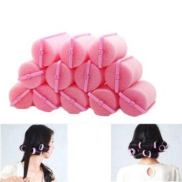 12Pcs Magic Foam Sponge Hair Curlers Foam Cushion Hair Styling Rollers Twist Tool