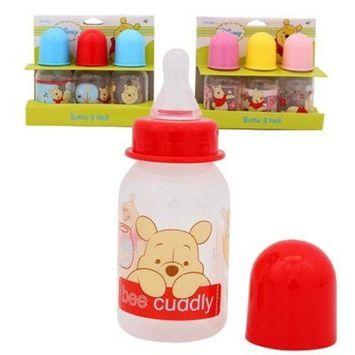 Pooh Plastic Baby Bottles Set - 1 Set Includes 3 Bottles - Each 5oz