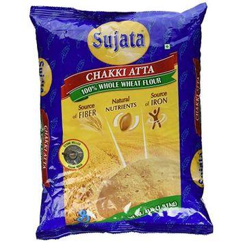Sujata Whole Wheat Chakki Atta, 4-Pound Bag