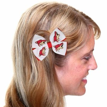 Arizona Coyotes Two-Tone Pinwheel Hair Clip - No Size