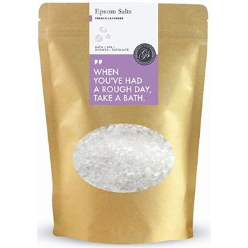 Grace & Stella Epsom Salts (Magnesium Sulphate) Soak for Achy Muscle Relief, Detoxing and Relaxation - 500g, French Lavender