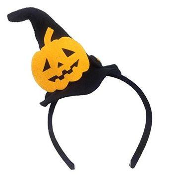 MeeTHan Handmade Halloween Pumpkin Hat Headbands Costume:H16 [Pumpkin]