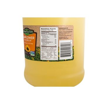 Healthy Harvest Non-GMO Sunflower Oil - Healthy Cooking Oil for Cooking, Baking, Frying & More - Naturally Processed to Retain Natural Antioxidants (One Gallon)
