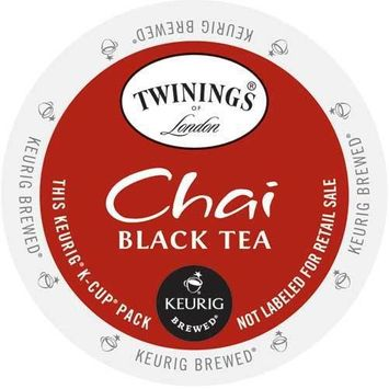 Twining's of London Chai Tea, K-Cup Portion Pack for Keurig Brewers (96 Count) (4x16oz)