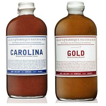 Lillie's Q Barbeque Sauce- CAROLINA 20 oz & Carolina Gold 20 oz