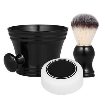 Anself 3pcs Traditional Man Shaving Tools Set Wet Shaving Kit-Shaving Brush, Mug Bowl and Soap