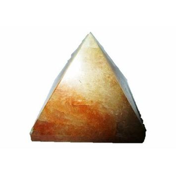 Jet Lovely Golden Quartz Pyramid Approx. 1.5