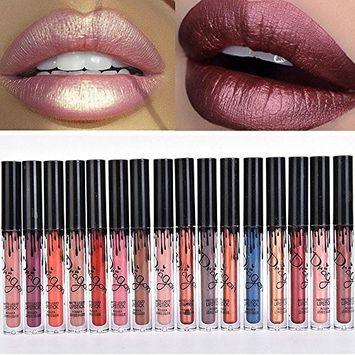 SHERUI 6pcs Madly MATTE Lipstick Lipgloss Bold Vivid Color Matte Lipgloss