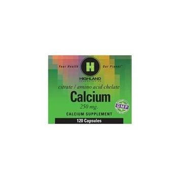 Calcium 250mg by Highland Laboratories 120 Caps