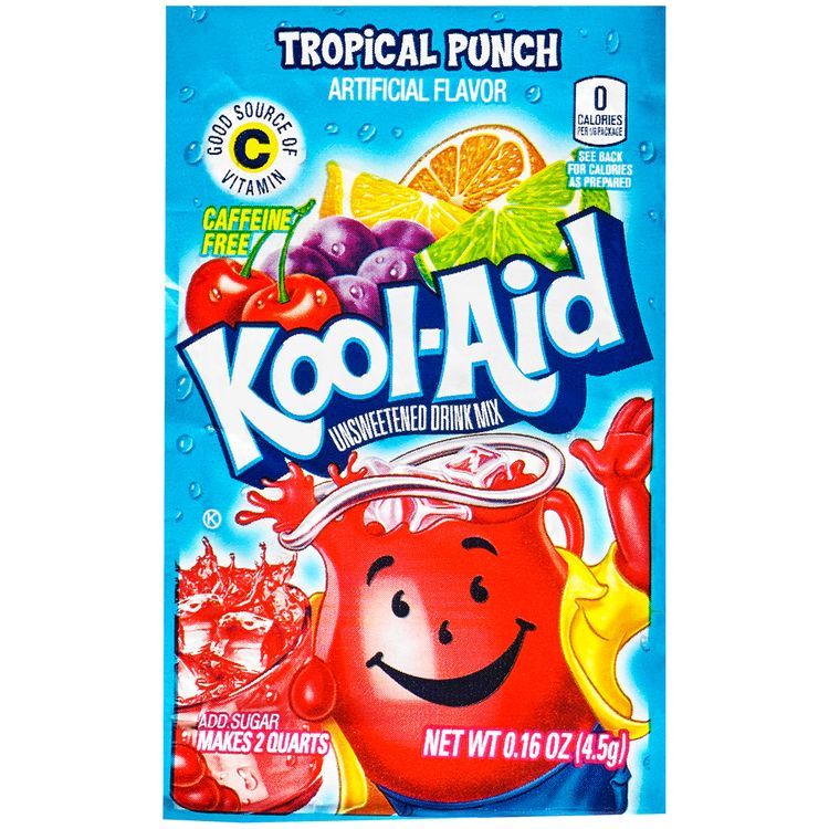 Kool-Aid Unsweetened Tropical Punch Powdered Soft Drink