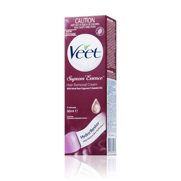Veet - Hair Removal Cream - Velvet Rose Fragrance & Essential Oils (Suprem Essence) (Red) 90ml