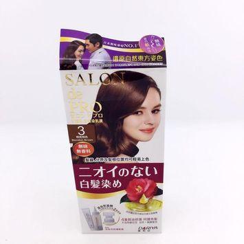 DARIYA - Salon de Pro Grey Hair Coloring Liquid (#3 Bright Brown) 1 set