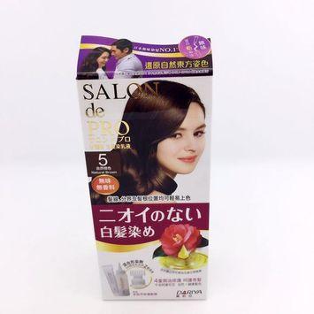 DARIYA - Salon de Pro Grey Hair Coloring Liquid (#5 Natural Brown) 1 set