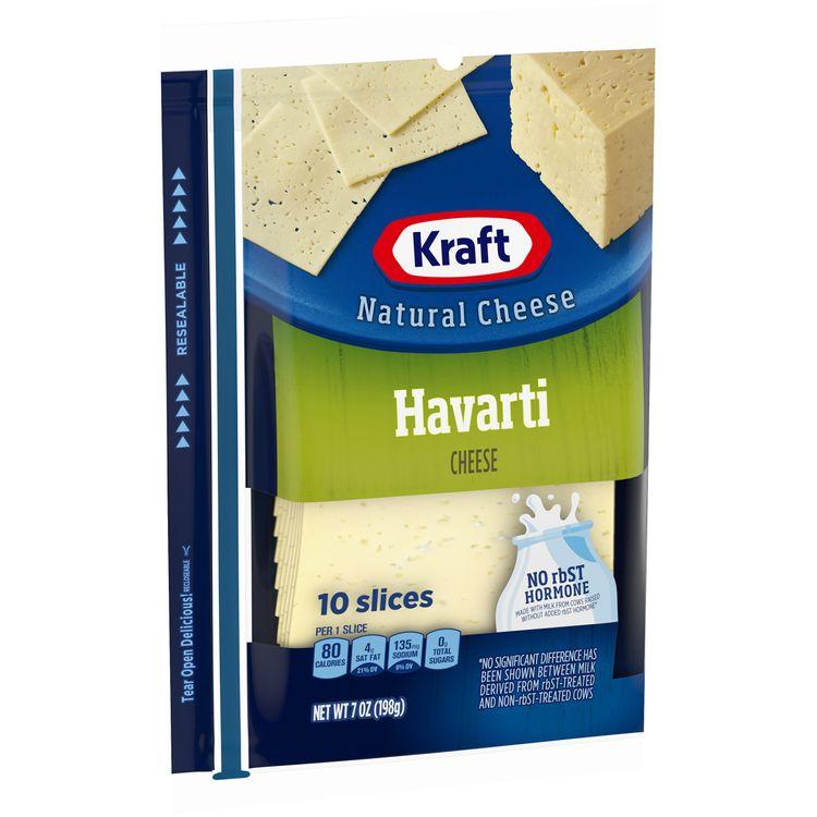 Kraft Havarti Cheese Slices, 10 ct - 7 oz Wrapper