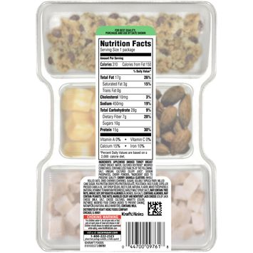 Oscar Mayer P3 Turkey, Cherry Granola Clusters, Almonds & Colby Jack Portable Protein Pack