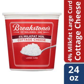 Breakstone's Large Curd 4% Milkfat Cottage Cheese, 24 oz Tub