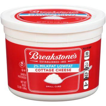 Breakstone's Small Curd 2% Milkfat Lowfat Cottage Cheese, 48 oz Tub
