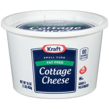 Kraft Small Curd Fat-Free Cottage Cheese 16 oz Tub