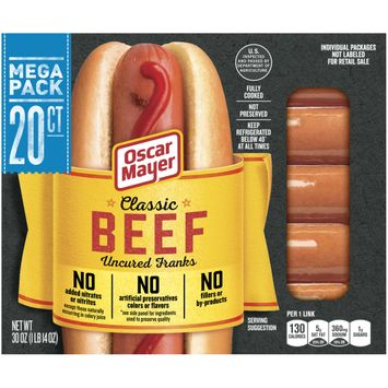 Oscar Mayer Classic Beef Uncured Franks