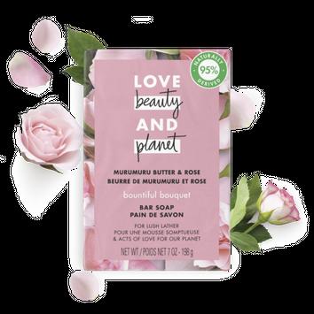 Love Beauty and Planet murumuru butter & rose bar soap