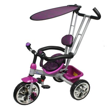 Monumental Recordings Millennium Baby Trike with Push Bar and Flat Canopy - Purple