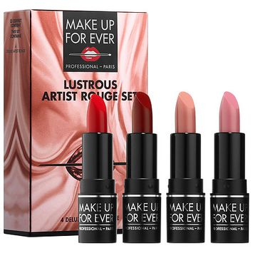 MAKE UP FOR EVER Lustrous Artist Rouge Set Lustrous Collection