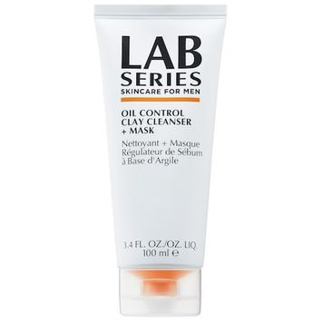 Lab Series For Men Oil Control Clay Cleanser + Mask 3.4 oz/ 100 mL