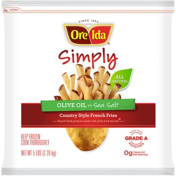 Ore-Ida Simply Olive Oil and Sea Salt Country Style French Fries