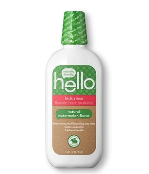 Hello kids watermelon fluoride-free mouthwash