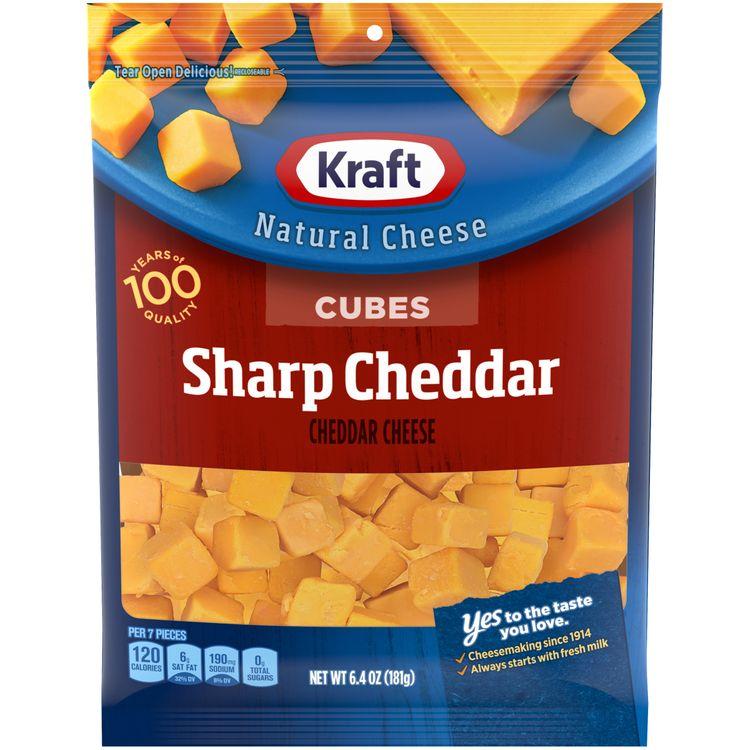 Kraft Sharp Cheddar Natural Cheese Cubes